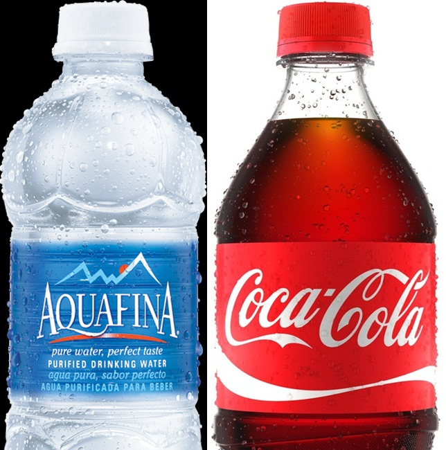 aquafina-&-coca-cola